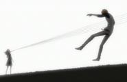 Kon is stabbed by Haruko