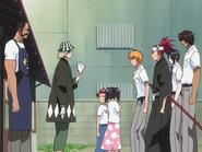 O65 Ichigo, Renji, Uryu i Sado nachodzą Kisuke, Tessaia, Jintę i Ururu