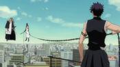 Komamura e Hisagi vs Tosen
