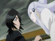 Rukia y Sode no Shirayuki