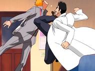 O1 powitanie Ichigo przez Isshina
