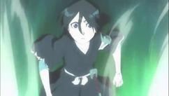 Rukia ve como la dimensión de Yukio explota