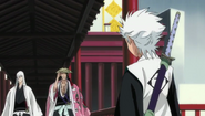 Hitsugaya approached by Kyoraku and Ukitake