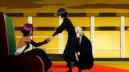 Soifon gives papers Yoruichi