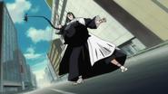 Byakuya dodges Gegetsubri