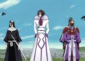 Muramasa junto a Byakuya y Senbonzakura