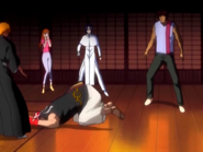 O22 Ichigo, Orihime, Uryu i Sado oglądają wejście Ganju
