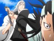 Ukitake zatrzymuje Byakuyę