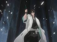 Aizen muestra a su Zanpakuto