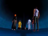 O23 Kukaku i Ganju zdradzają Ichigo, Sado, Orihime i Uryu sposób dostania się za mur