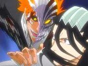 Ichigo hollow vs byakuya