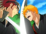 Comienza la lucha entre Ichigo y Renji