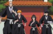 Ichigo and Co. head towards the palace