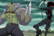 Kazeshini (spirit) battles Kirikaze