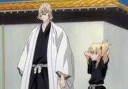 Urahara y Hiyori en el pasado