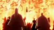 Ryūjin Jakka liberando su poder ante los Shinigami