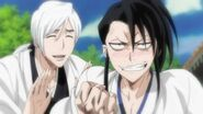 Byakuya and Jushiro (Bleach)