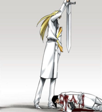 Jugram tratando de matar a Uryu
