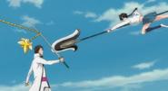 Lisa attacks Aizen