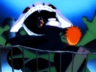 O10 Don Kanonji chroni Ichigo przed Demi-Hollowem
