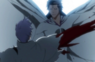 Aizen ripping gin's arm out