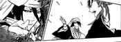 Byakuya utilizando a Senbonzakura