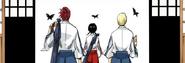 -17Renji, Hinamori, and Izuru depart