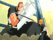 Ichigo detiene el hacha de Jidanbou