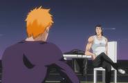 Ichigo talks with Ginjo
