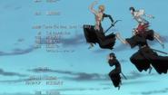 Ichigo, Renji, Ishida y Rukia salen del infierno