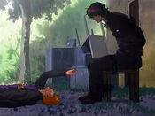 Ichigo le entrega el colla a sado
