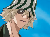 Urahara hablando con Ichigo