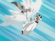 O140 Shinji napiera na Grimmjowa