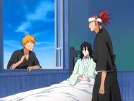 Ichigo, Renji i Byakuya
