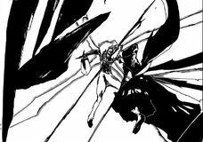 Ichigo cortando a Kugo