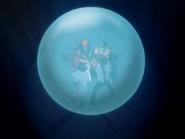 O25 Ichigo, Orihime, Sado, Uryu, Ganju i Yoruichi wspólnie tworzą kulę