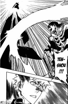 Kugo lanza un Getsuga Tenshou