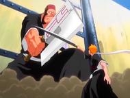 O21 Ichigo blokuje atak Jidanbo