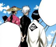 147Unohana, Isane, Shunsui, and Nanao attend