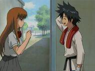 Orihime conversando con Tatsuki