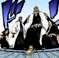 138Komamura, Tosen, Iba, and Hisagi appear