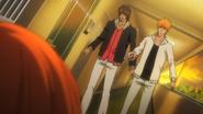 Ichigo and Sado rush to Orihime