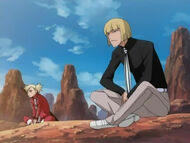Shinji and Hiyori watch Ichigo