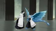 Byakuya kontra Reigai Toushirou