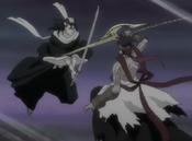 Byakuya vs Koga Kuchiki
