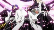 Byakuya surrounds the Reigai