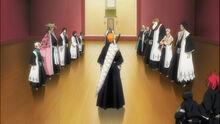 Ichigo demandant le retour du corps de Ginjo