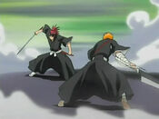 Ichigo vs Renji anime