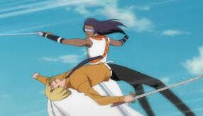 Tousen tente d'attaquer Sinji