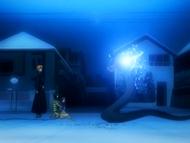 O3 Sora oczyszcza się na oczach Ichigo, Orihime i Rukii